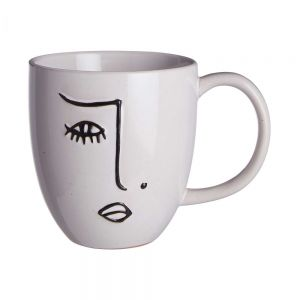 LINE ART - κούπα με μοτίβο πρόσωπο 350 ml