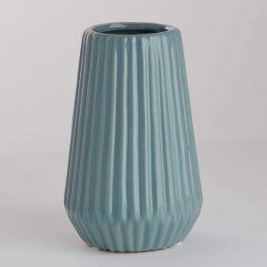 RIFFLE - βάζο κεραμικό 13,5 cm, ανοιχτό μπλε