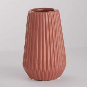 RIFFLE - βάζο κεραμικό 13,5 cm, ροζ