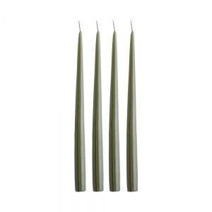 TAPER - κεριά 4 τεμάχια 32cm, σκούρο πράσινο