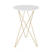 MONROE - τραπέζι από μάρμαρο με χρυσό σκελετό