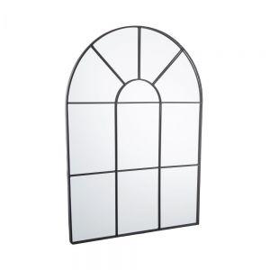 FINESTRA - καθρέφτης σε σχήμα παραθύρου 50x70 cm, μαύρο