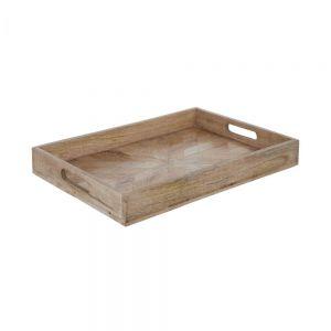 MANGO DAYS - δίσκος ορθογώνιος από ξύλο μάνγκο 46x31 cm